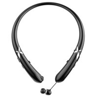 Wireless Bluetooth 5.0 Neckband Super Bass Music Headphones Earbuds Sport Headsets Earphones, Water & Sweat Resistant(Black)
