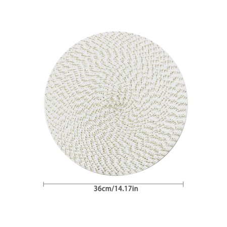 Akoyovwerve Pp Wire Woven Placemat Children'S Table Round Oval Woven Placemat Kitchen Dinner Handmade Pad