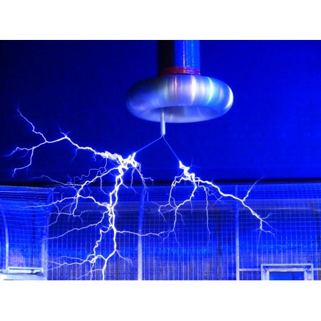 LAMINATED POSTER Experiment Tesla Coil Flash Faradayscher Cage Poster Print 24 x 36