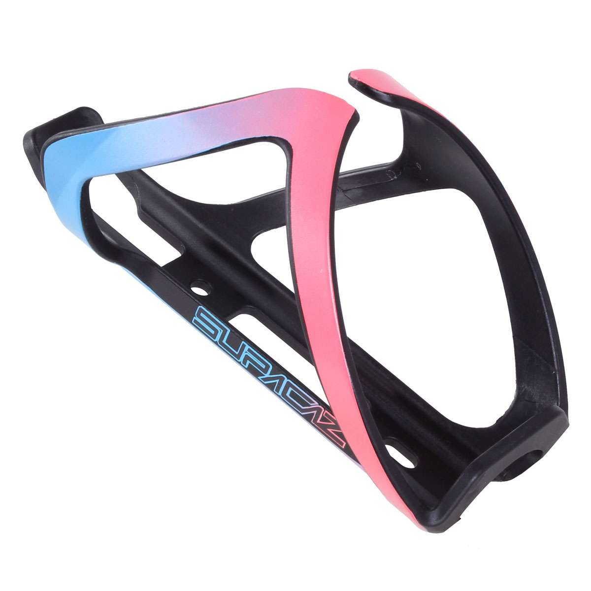 Supacaz Tron Side Load Bottle Cage - Neon Pink & Neon Blue - CG-38