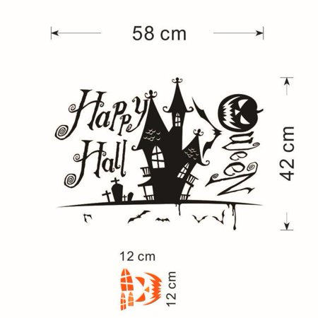 Halloween Devils tower Wall cute Sticker Window Home Decoration Decal Decor](Cute Halloween Home Decor)