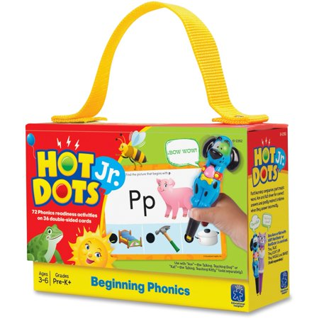 Educational Insights, EII2352, Beginning Phonics Hot Dots Junior Card Set, 36 / Set