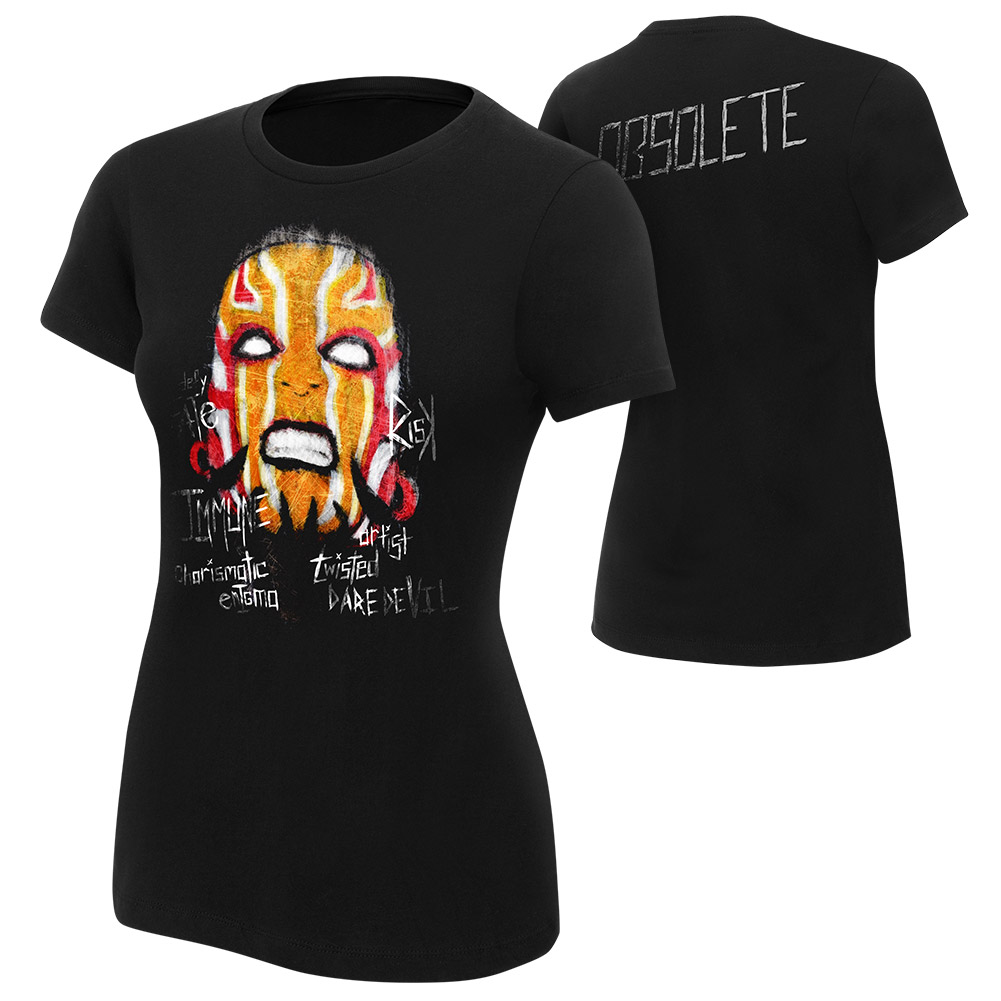 "Official Wwe Authentic Jeff Hardy ""Obsolete"" Women's  T-Shirt Black Small"