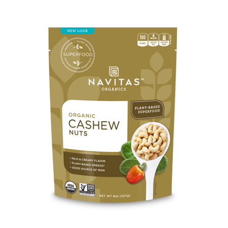 Navitas Organics Cashew Whole Nuts, 8.0 Oz (Organic Cashew Nuts)