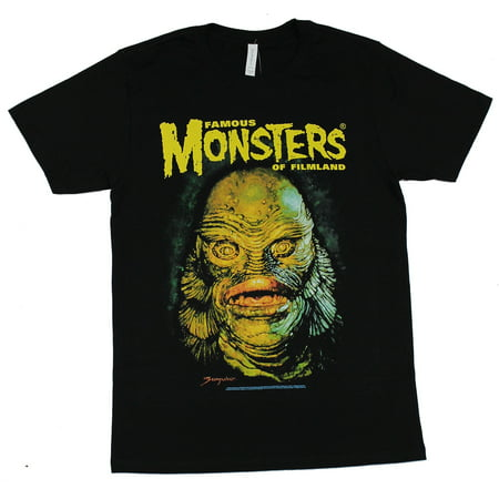 Famous Monsters of Filmland Mens T-Shirt - Sanjulian Gil Man Face (Famous Men With Moles On Their Face)