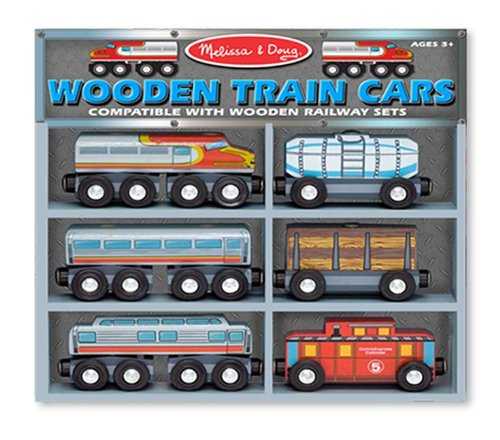 Wooden Train Cars Set..., By Melissa & Doug Ship from US
