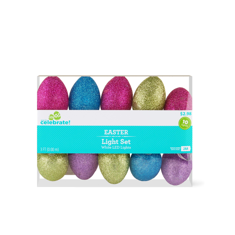 Way To Celebrate Easter Egg Light Set, 3'