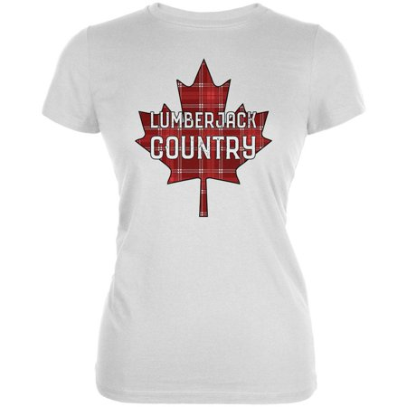 Canada Day T-shirt (Canada Day Lumberjack Country Plaid Juniors Soft T Shirt)
