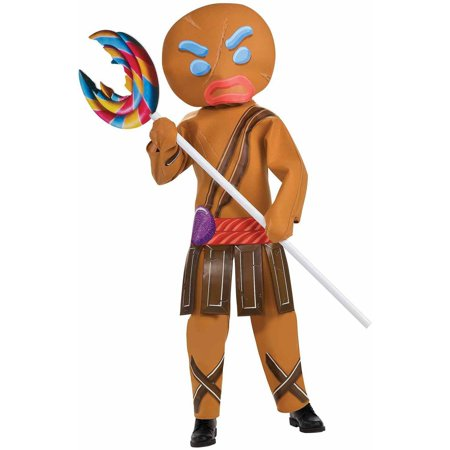 Gingerbread Warrior Boys Child Costume w/ Mask Shrek Forever After Cartoon Movie