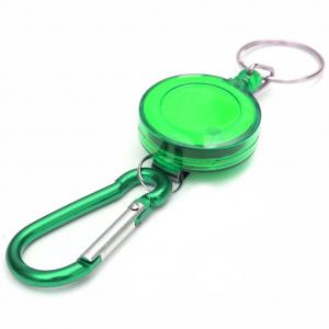Fancyleo 2 Pcs Retractable Key Chain Key Ring ABS Plastic Case with Retractable Steel Wire Cord