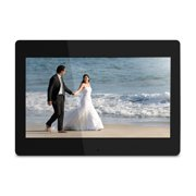 "Aluratek 14"" Digital Photo Frame with Automatic Slideshow and 4GB Built-in Memory (1600 x 900 Resolution, 16:9 Aspect Ratio)"
