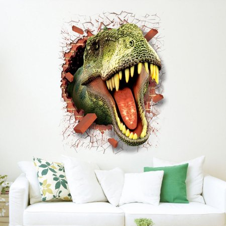 3D Cool Dinosaur Vinyl Sticker Decals Park Wall Mural Kids Room Decor - Dinosaur Wall Decor