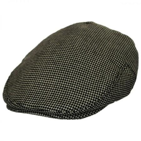Merripit Houndstooth Italian Wool Ivy Cap - XXL - Brown/Beige](Italian Skimmer Hat)
