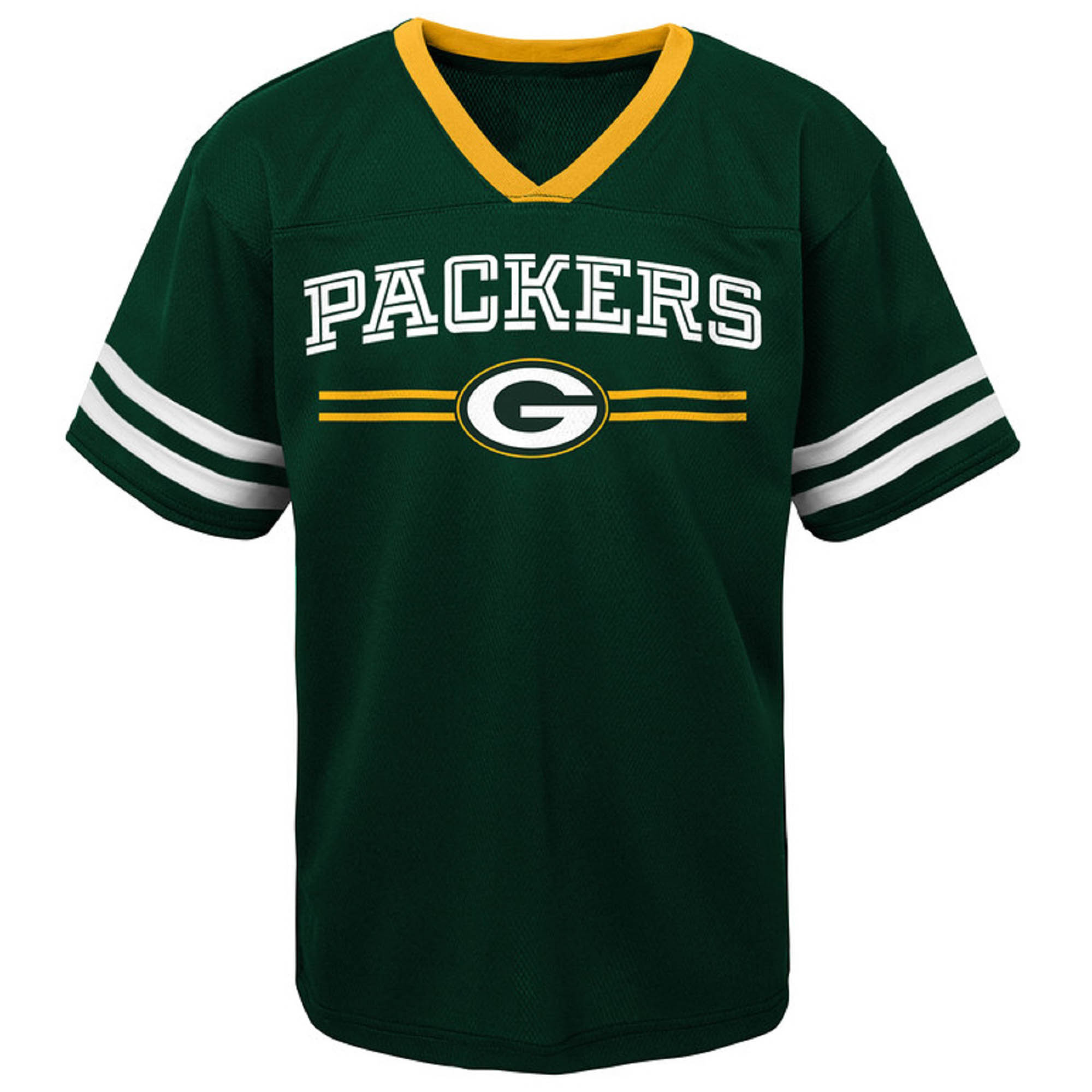 Toddler Green Green Bay Packers Mesh Jersey V-Neck T-Shirt