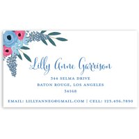 Spring Blooms - Personalized 3.5 x 2 Business Card