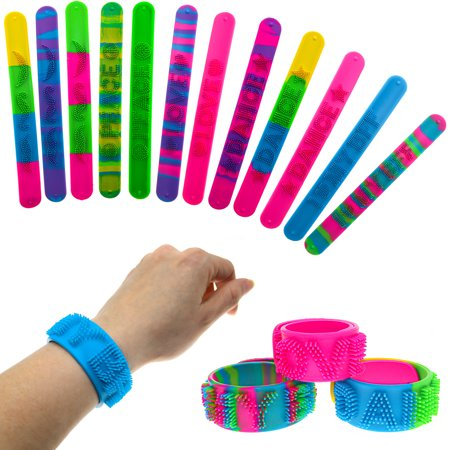 Party Bags For Kids (12 Spiky Slap Bracelets for Kids - Party Favors, Goodie Bag)
