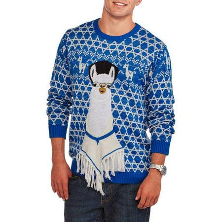 Hanukkah Llama Mens Ugly Holiday Sweater