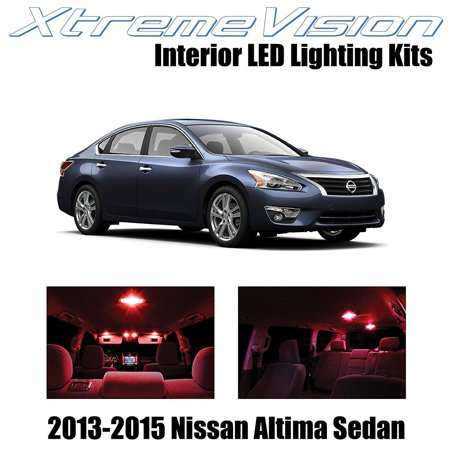 Red Interior Led Package (XtremeVision LED for Nissan Altima Sedan 2013-2015 (7 Pieces) Red Premium Interior LED Kit Package + Installation Tool )