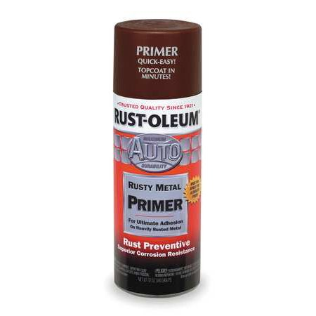 RUST-OLEUM 249330 12 oz. Flat Brown Auto Body Rusty Metal (Best Metal Primer For Rusty Metal)