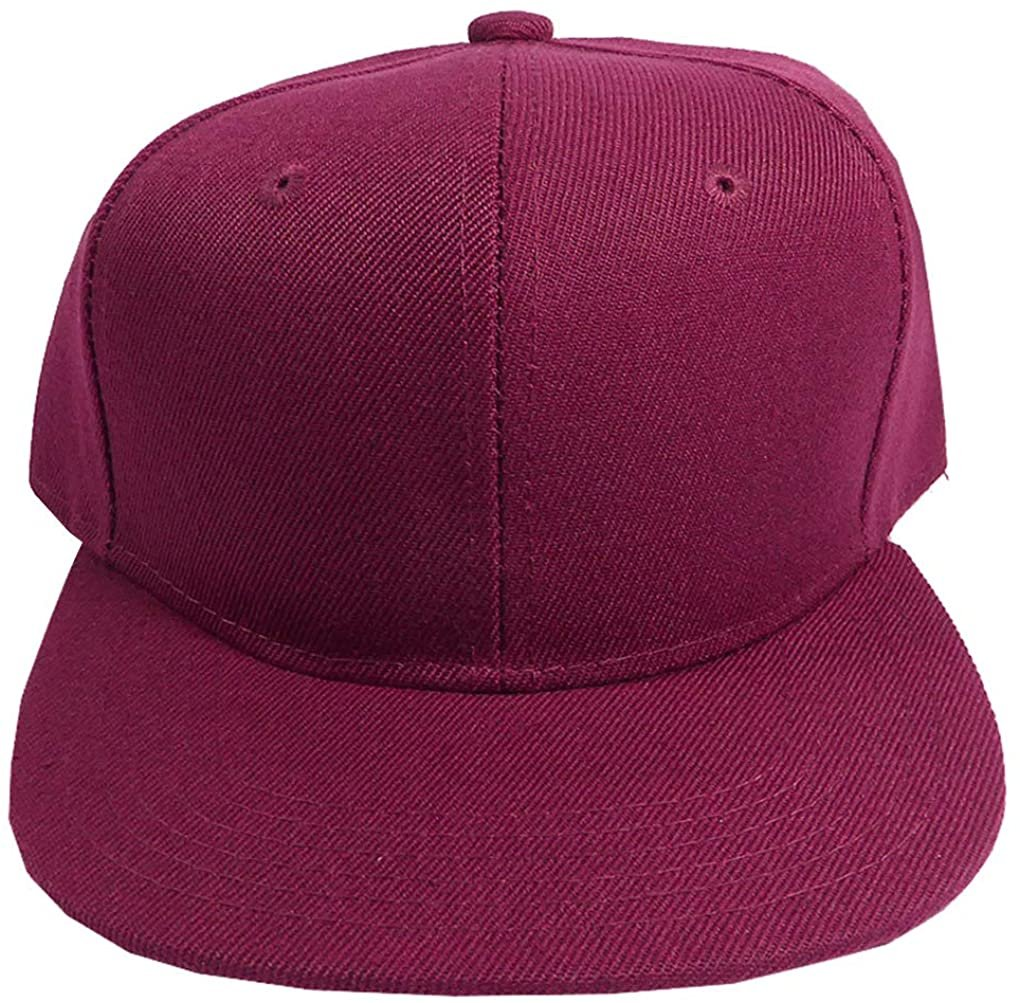 SILVERFEVER Infant Toddler Kids Junior Solid Color Structured Snapback Cap...