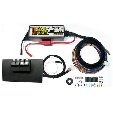 Painless Performance Wiring (Painless Performance 57002 PAN57002 TRAIL ROCKER SYSTEM JEEP WRANGLER JK 2007-10 (AUTO ONLY) BLACK DASH PANEL)