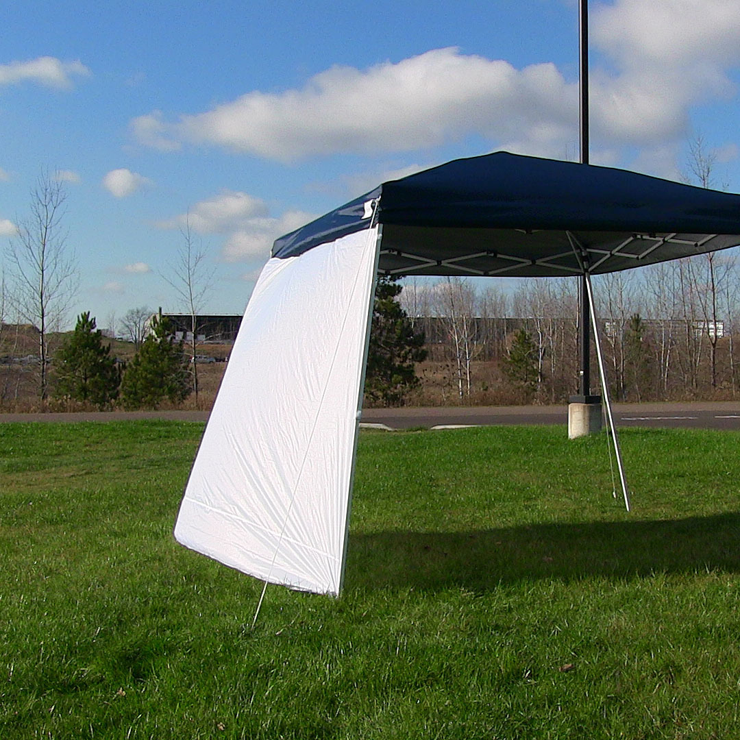 Sunnydaze Sidewall Kit for Slant Leg Canopies - Includes Two 8 foot Side Walls, Canopy Sold Separately