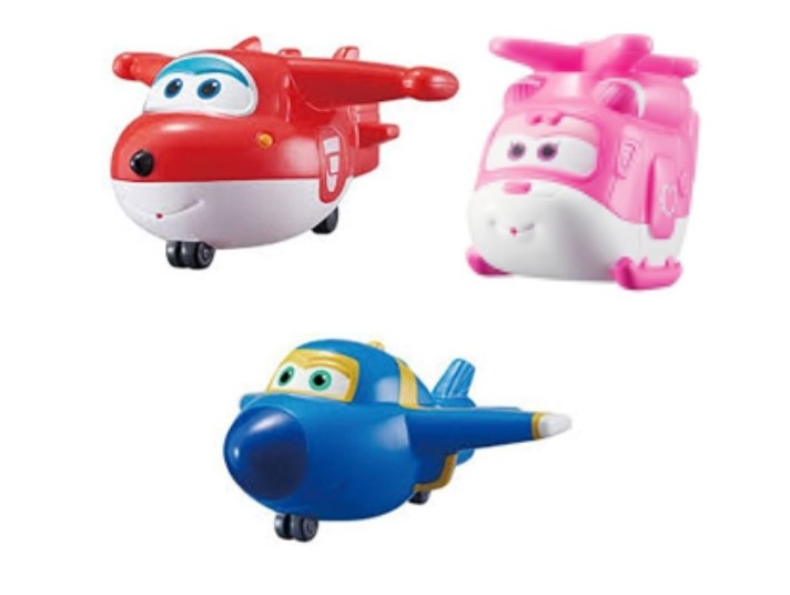 Super Wings Bath Soft Squirtees, 3 Pack by Auldey Toys NA