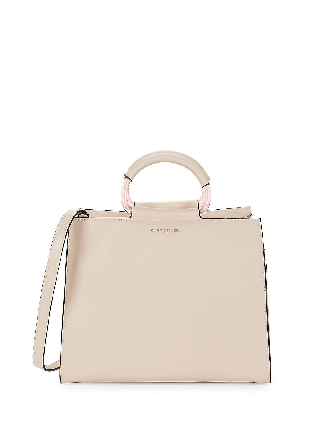 Harriet Ring-Handle Leather Tote