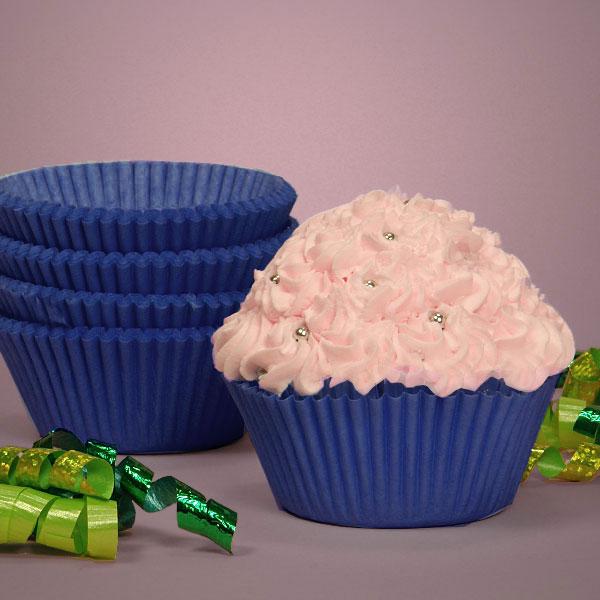"Blue Glassine Cupcake Baking Cup   Quantity: 200   Diameter - 2"" by Paper Mart"