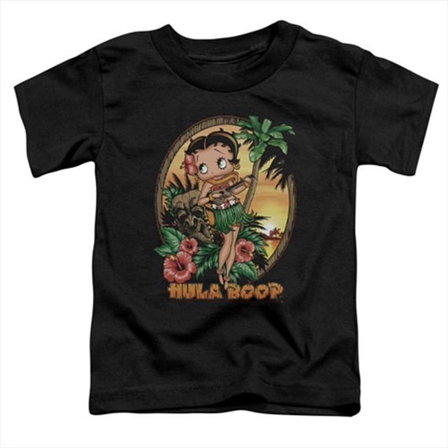 Boop-Hula Boop Ii - Short Sleeve Toddler Tee, Black - Small 2T