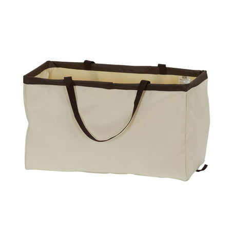 Natural Canvas Tote Bags Craft - Krush Rectangle Utility Tote Bag, Natural with Brown Trim