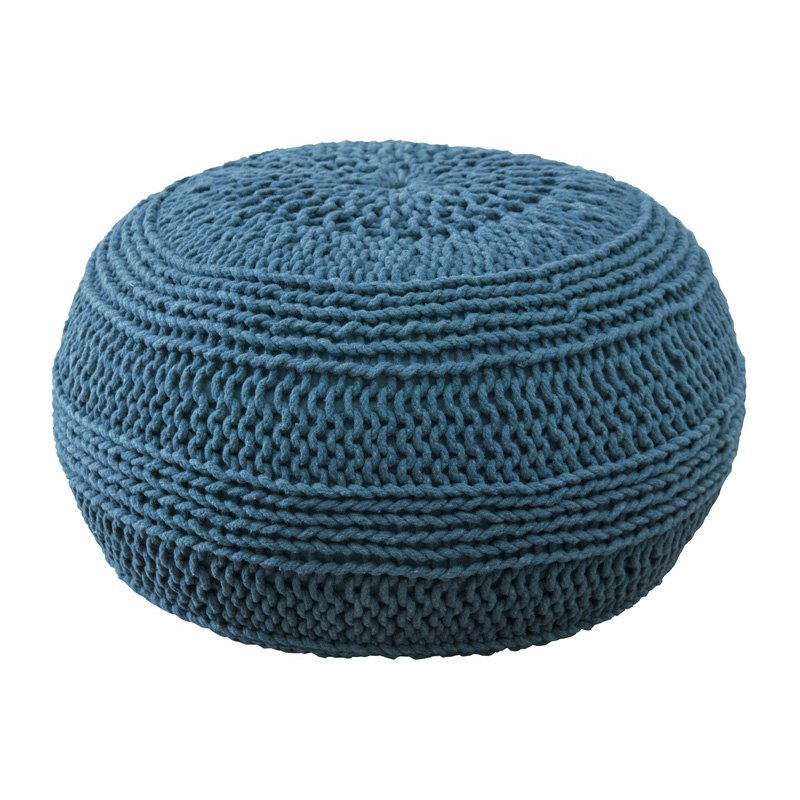 Rizzy Home Roped Cotton Pouf