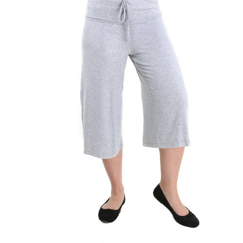 24//7 Comfort Apparel Plus Size Pants Draw String Knee-Length Pant for Womens Made in USA