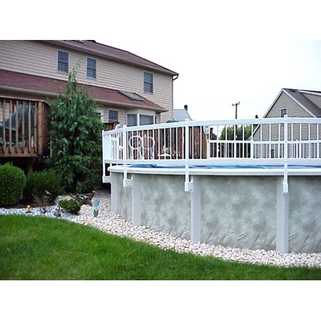 24-Inch White Economy Vinyl Works Resin Above-Ground Pool Fence Kit C - 2