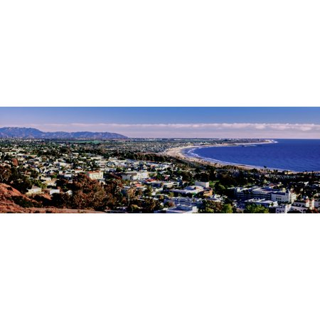 Party City Ventura (Elevated view of city at waterfront Ventura California USA Canvas Art - Panoramic Images (6 x)