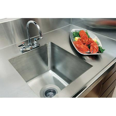 A Line By Advance Tabco Integral Single Bowl Kitchen Sink