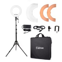 """Zimtown 12"""" LED Photography Camera Ring Light Dimmable 5500K Lighting Photo Video Stand"""