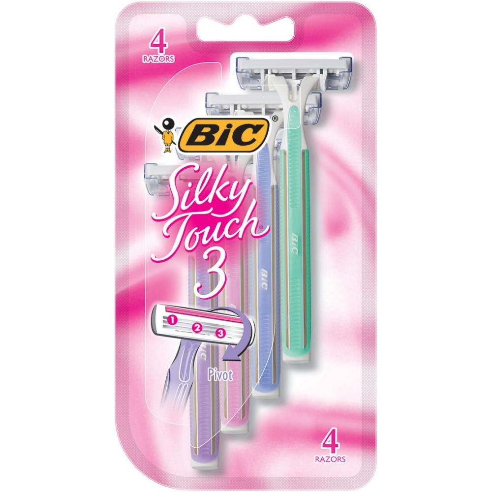 BIC Silky Touch 3 Women's 3 Blade, Disposable Razor, 8-Coun4