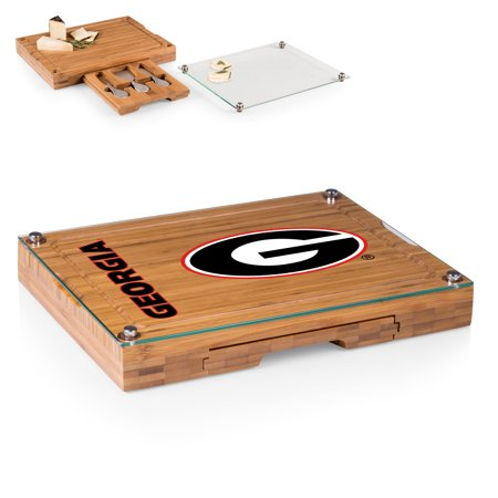 Georgia Bulldogs Concerto Cheese Board with Serving Stage and Tools - No Size