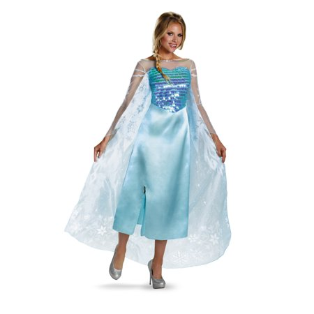 ELSA ADULT DELUXE](Elsa Coronation Halloween Costume)