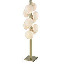 Floor Lamps 10 Light With Aged Brass and Frosted White Metal Glass E12 60 inch 250 Watts