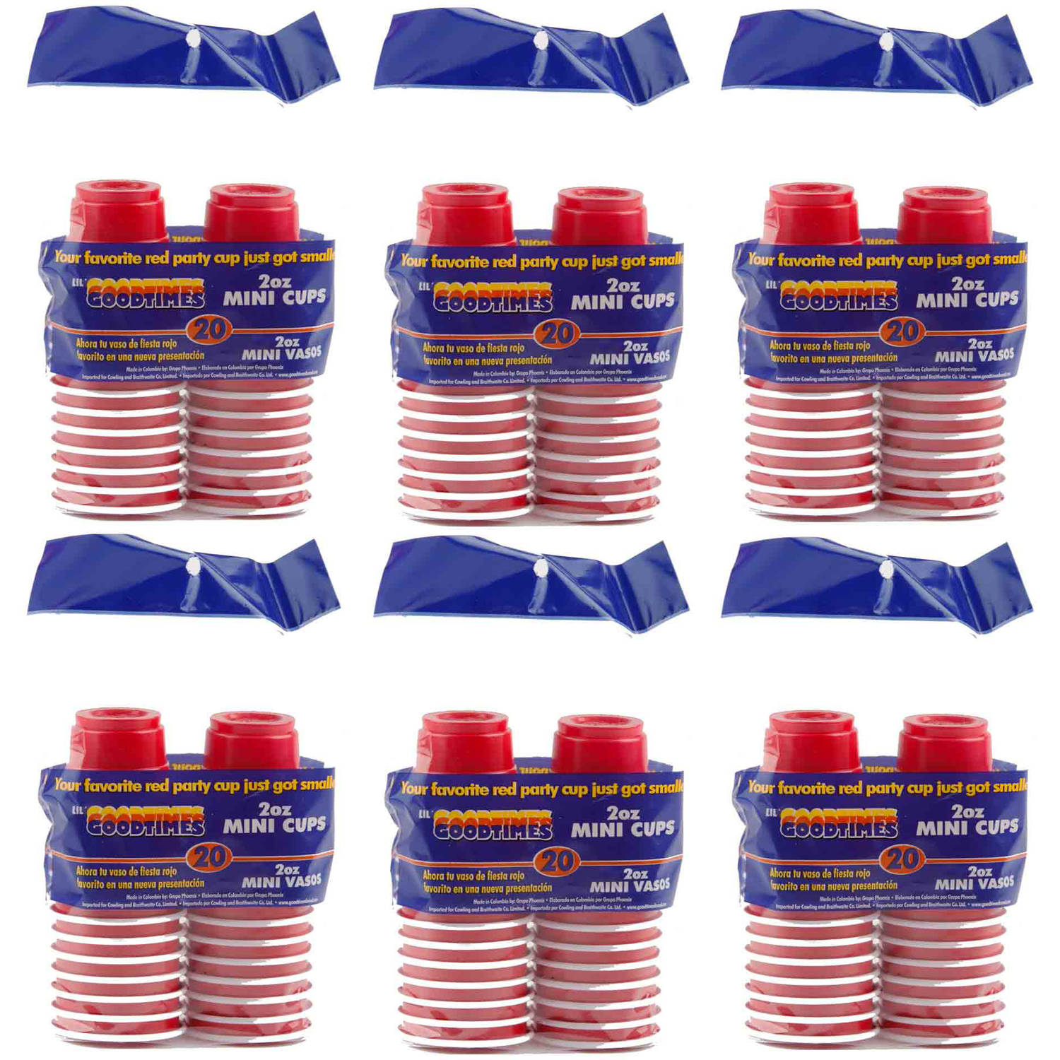 Goodtimes 2 oz Mini Red Party Cup, 120-Count GTB00355