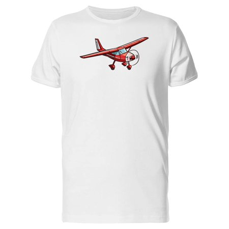 Cool Red Retro Airplane Tee Men's -Image by Shutterstock
