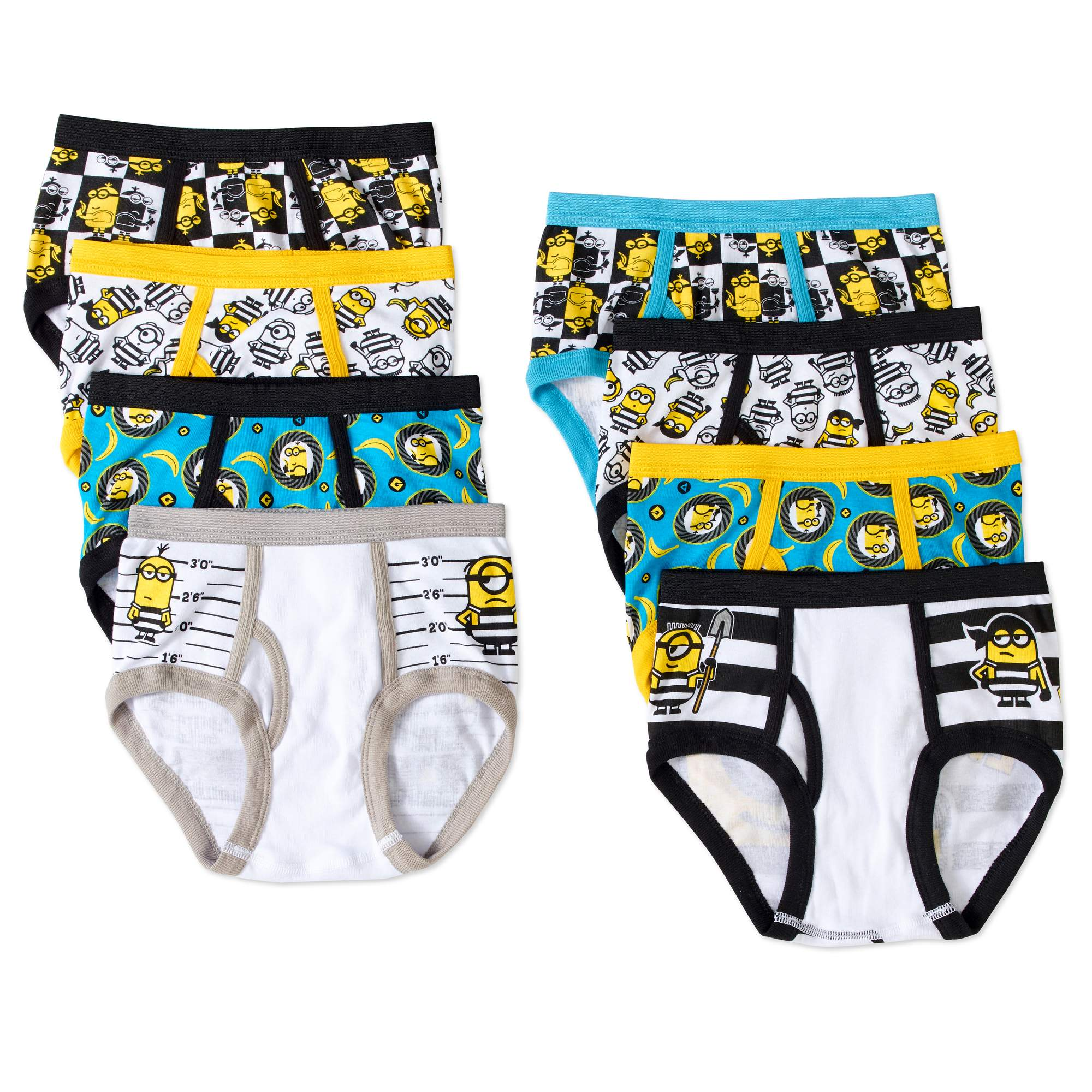 Despicable Me Boys' Cotton Briefs, 5 Pack + 3 Free Bonus Pairs