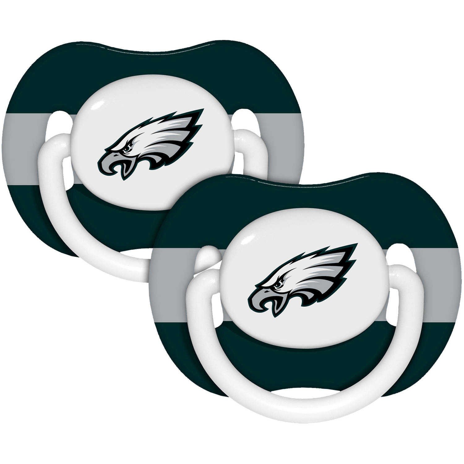 Baby Fanatic Nfl Baby Pacifiers, 2pk, Philadelphia Eagles