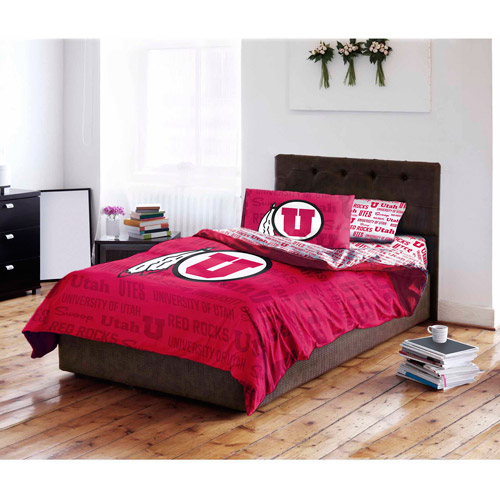 NCAA University of Utah Utes Bed in a Bag Complete Bedding Set