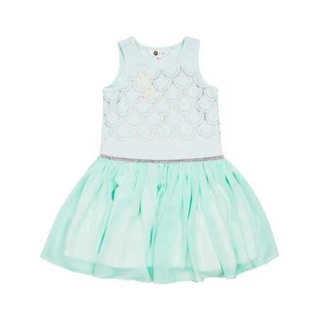 Mermaid Dress For Girls (Petit Lem Mermaid Tank Dress (Toddler)