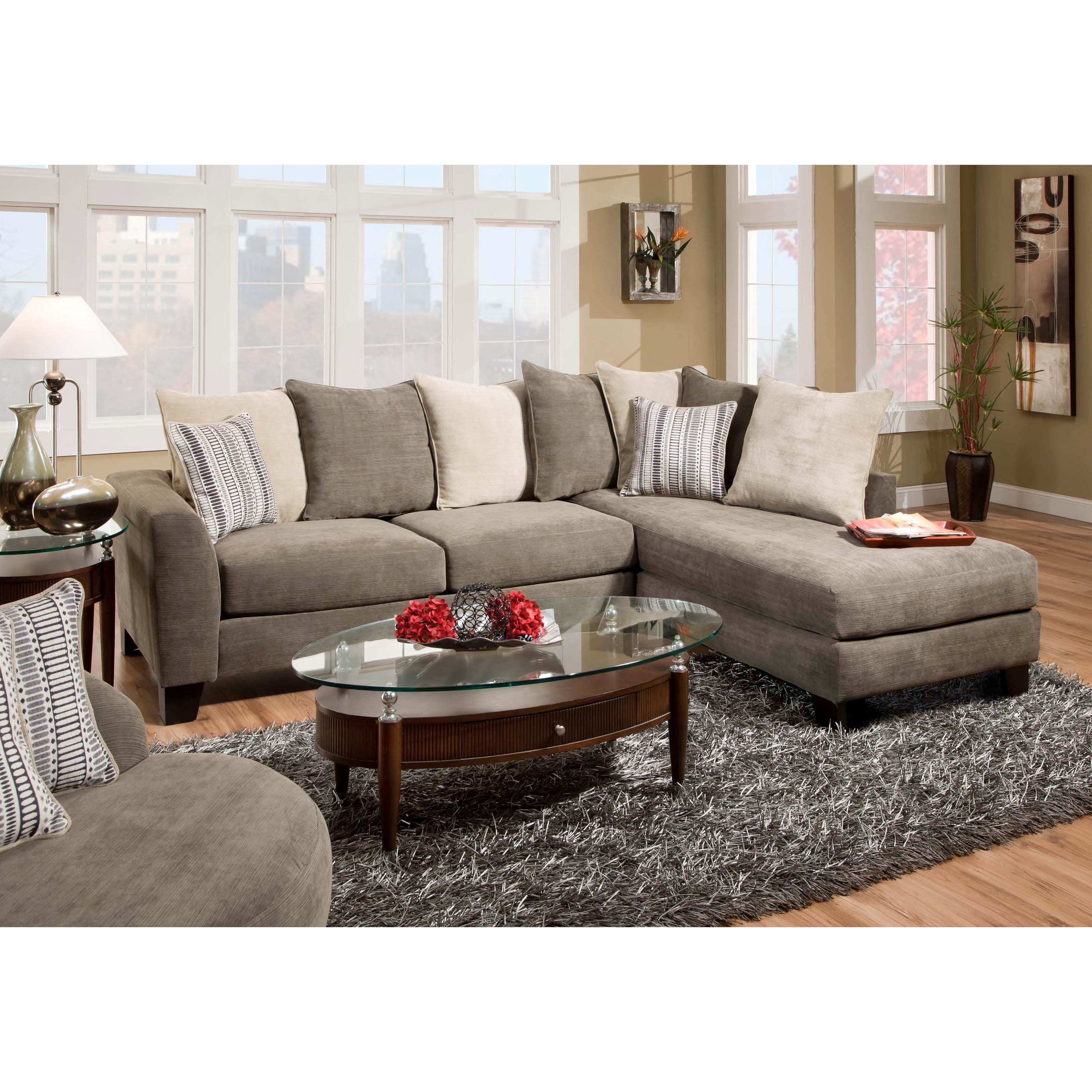 Chelsea Home Sheridan Upholstered 2 Piece Sectional Sofa Walmart