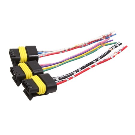 3 pcs 4 wires dc 12v plastic motor wiring harness connector for car vehicle  - walmart com