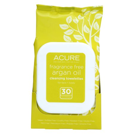Image of Acure Cleansing Towelettes - Fragrance Free Argan Oil - 30 Count